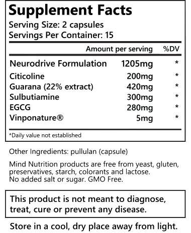 Neurodrive ingredienti